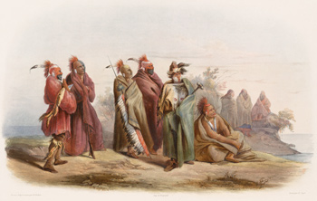 Historic painting of Mississippia Indians